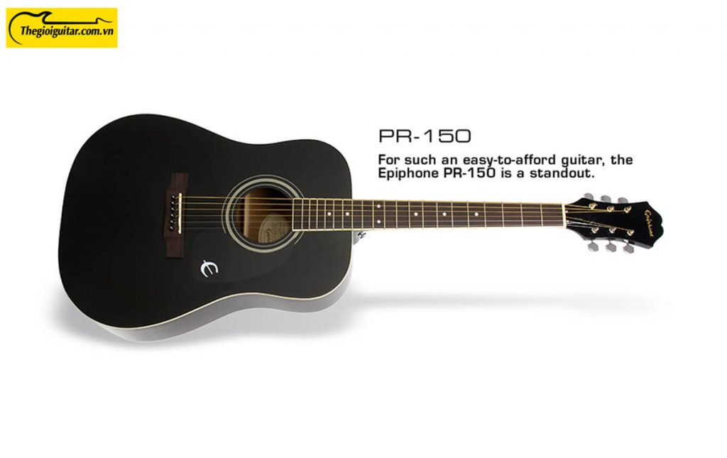 Đàn Guitar Acoustic Epiphone PR-150 Màu Ebony | Thegioiguitar.com.vn | 0865 888 685