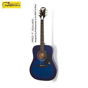 Đàn Guitar Acoustic Epiphone Pro-1 Màu Blueburst | Thegioiguitar.com.vn | 0865 888 685